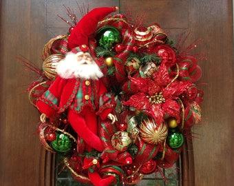 Totally Traditional Santa Wreath