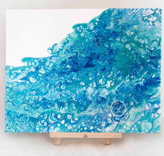 Fluid Painting, Painting 64, Original Painting, Acrylic Painting, Abstract Painting, Painting On Canvas, Housewarming Gift, Office Decor