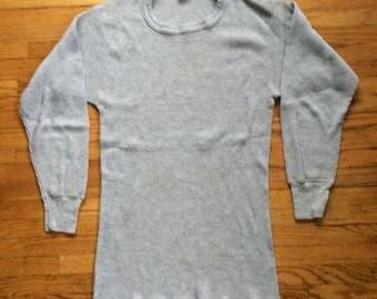 Vintage J.E. Morgan Gray Long Johns Long Sleeve Thermal Shirt
