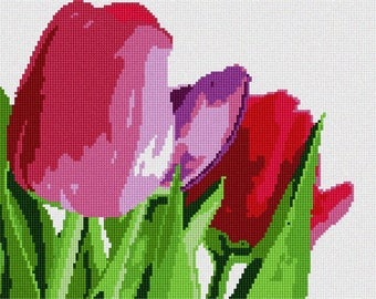 Needlepoint Kit or Canvas: About Tulips