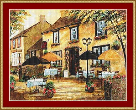 The Mobley Inn Cross Stitch Pattern /Digital PDF Files /Instant downloadable