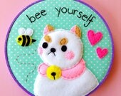 Bee and Puppycat Embroidery