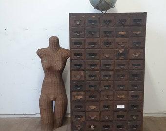 Vintage Metal Wood Industrial Cabinet / Tool Cabinet/ Garage Organization / Industrial Furniture