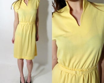 SALE Vintage Mari Lynn Fashions Yellow Dress Sze 12