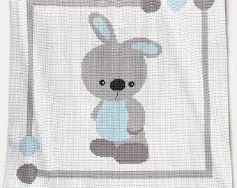 CROCHET Pattern - Baby Blanket Pattern - Baby Bunny - Crochet Graph - Bunny Crochet Pattern - Afghan Crochet Pattern - Bunny Crochet Chart