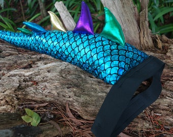 Blue Dragon Tail Costume. Optional Wings Crown or Mask Set! Dinosaur costume.