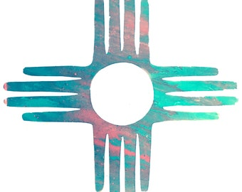 "Zia Symbol, New Mexico, Art Print from original painting. 12""x12"""