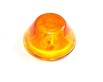 A stained glass CONE 20 mm TRANSPARENT yellow glass globe