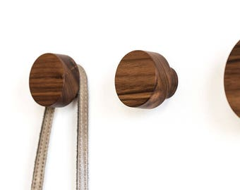 Modern Coat Hook wall hooks set of 4 wooden coat hook wall knobs modern coat