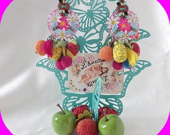 MAY challenge earrings ethnic chic trend tropical fruit