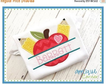 40% OFF INSTANT DOWNLOAD 3112 Apple Pencils Split applique digital design for embroidery machine by Applique Corner