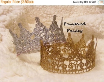 Birthday sale Lace crown, puppy crown, dog crown, pet apparel, dog clothing, dog hat, silver dog crown, gold dog crown, cat crown
