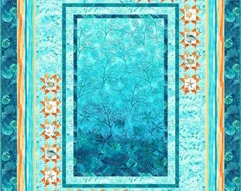 Among the Stars, Quilt Kit. Northcott Ocean Tides fabric
