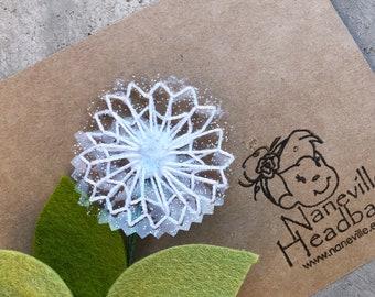 Dandelion hair clip or nylon headband