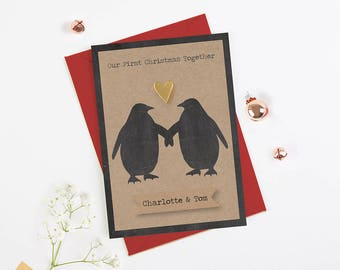 1st Christmas Together Card - personalised - Boyfriend Girlfriend