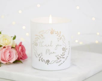 Thank You Mum Scented Candle