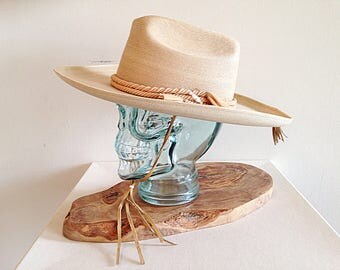 Vintage Mexican Sahuayo Cowboy Ranch Hat 1960s