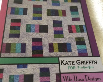 """Paper Pattern for a quilt called Pocket Change by Villa Rosa Designs 40"""" square"""
