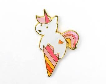 ANIMAL   Cute Unicone Unicorn Ice Cream Enamel Lapel Pin