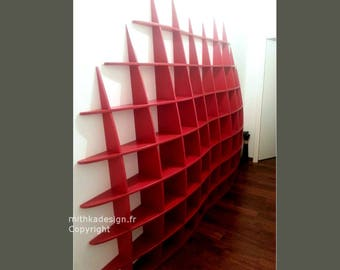 Invisible fastenings GM design wall library