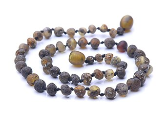 Baltic Amber Teething Necklace for Baby - Not polished - Natural pain relief -  !!! SPECIAL PRICE !!!