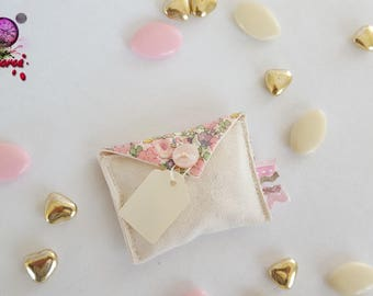 floral wedding and baptism favors pouch