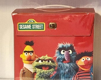 ON SALE Sesame Street 45rpm Record Storage Box. Vinyl. Primary Colors. A Great Way to Store Your 45's for a Sunny Day.  Record Storage. Orga
