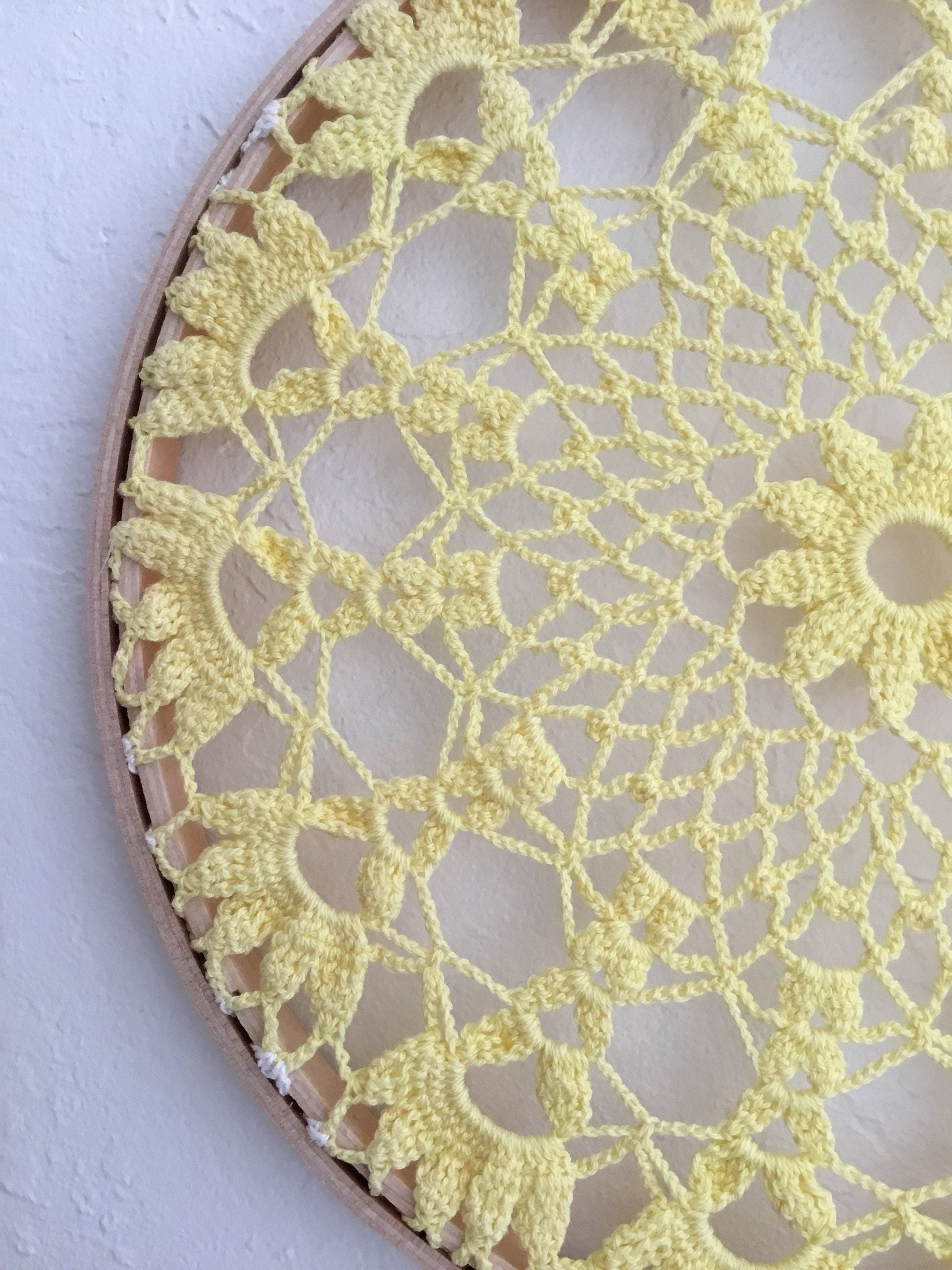 Wall Hanging, Birthday Gift, Vintage Crochet Doilies, Lace ...