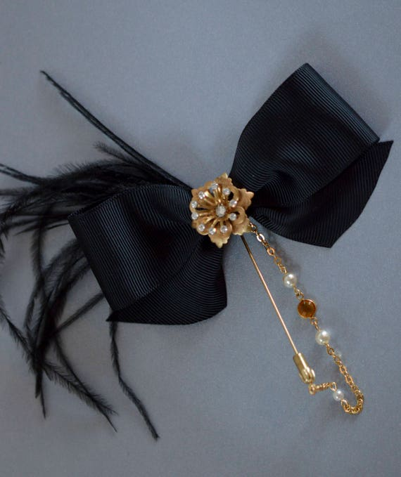 Bow Brooch, Scarf Pin, Pin Up Pin, Vintage Style Accessories