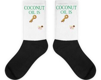 Coconut Oil Is Key Socks