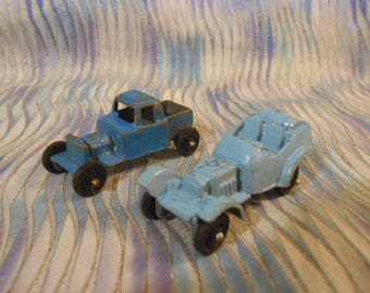 Two -Two Inch Metal vintage Race Cars