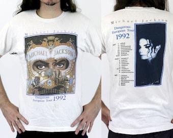 Vintage 1990s Michael Jackson Dangerous European Tour 1992 T-Shirt
