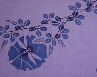 Indigo Tonbo Hagi Vintage Japanese cotton kimono fabric