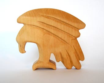 Eagle, Wooden Toys, Carved animals for Waldorf Education