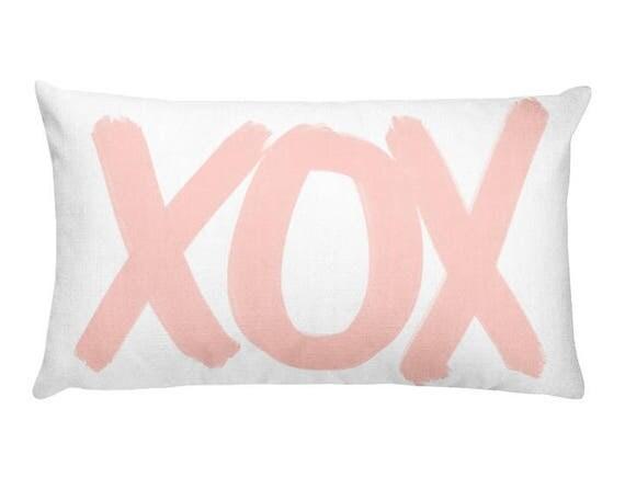 XOX Pillow in Blush, 12x20