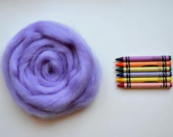 ROMNEY WOOL ROVING / Lavender Bouquet 1 ounce / romney roving for spinning, needle felting, wet felting, weaving, tapestry, doll hair