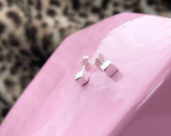 Cube Stud Earring