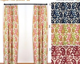 Curtains 2 Curtain Panels Draperies Window Treatments Duralee Rasul Pink