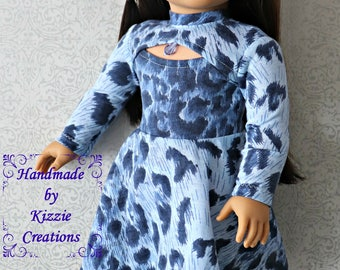 18 Inch Doll Dress, Doll Skating Dress, Olympic Dress, Kizzie Creations, Made for 18 inch Dolls such as American Girl and My Imagination
