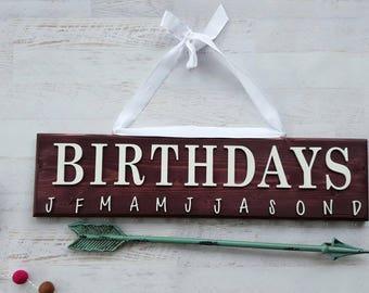 Deep Plum Birthday Board , Birthday Reminder Board , Birthday Calender , Wall Hanging , Custom Wall Art , Important Date , HAVENSPLACE