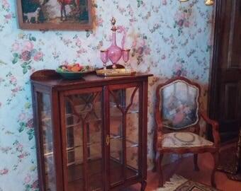 Dollshouse miniature Art Nouveau Treasury cabinet one scale (1/12)