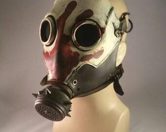 Skullbuster Gas Mask, Red Hand finish.