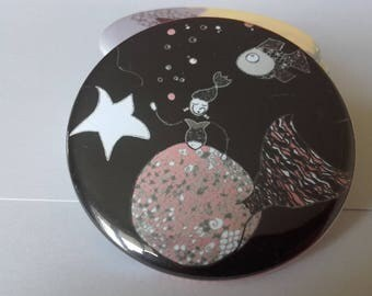 Mirror 56 mm round Mermaid bag