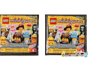 Lego Minifigures Series 12 Upcycled Cork Coaster Set- Recycled Beer Mat, Coffee Rest, Miniature Building Block Toys