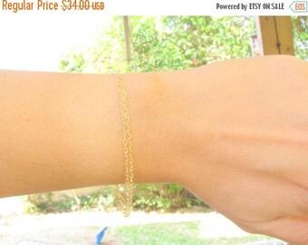 SALE - Double chain bracelet - Delicate double chain Gold Bracelet - Thin gold bracelet - Dainty bracelet - Layered bracelet