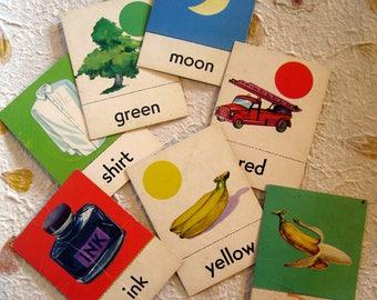 Flash Cards, Vintage, Set of 15