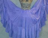 25 Yard Tribal Gypsy Belly Dance Skirt, Bohemian Hippie Ethnic Festival Skirt, Handmade Boho Plus Size Maxi Skirt, Renaissance Costume