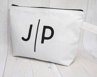 Monogram makeup bag/ travel bag/ wash bag