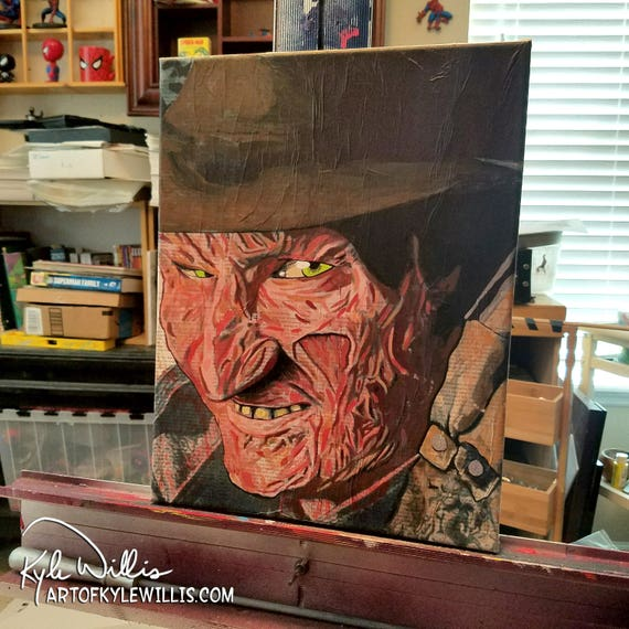 Freddy Krueger Acrylic Painting