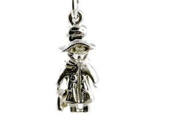 Sterling Silver Paddington Bear Charm For Bracelets